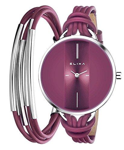 Elixa lila mit Armbanduhr Geschenk