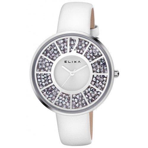 Uhr Elixa weiss mit Swarovski im