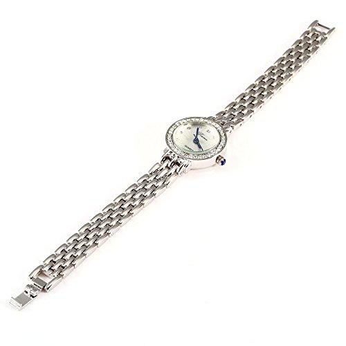 Leopard Shop Prema 5020 Elegant weiblich Quarzuhr hardlexglas Spiegel Silber Weiss