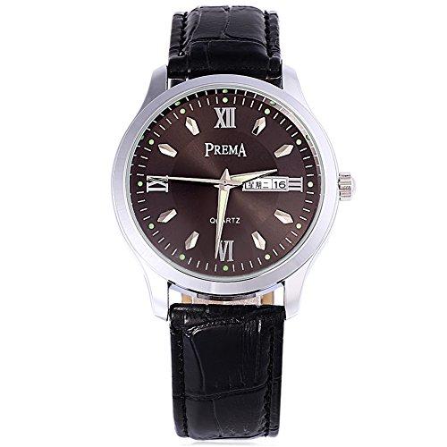 Leopard Shop Prema 6119 11 Stecker Armbanduhr Quarzuhr roemischen Ziffern Display Kalender Luminous Pointer Wasser Widerstand 7