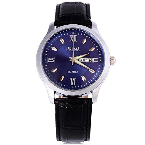 Leopard Shop Prema 6119 11 Stecker Armbanduhr Quarzuhr roemischen Ziffern Display Kalender Luminous Pointer Wasser Widerstand 1