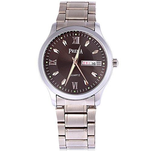 Leopard Shop Prema 6119 11 Stecker Armbanduhr Quarzuhr roemischen Ziffern Display Kalender Luminous Pointer Wasser Widerstand 2