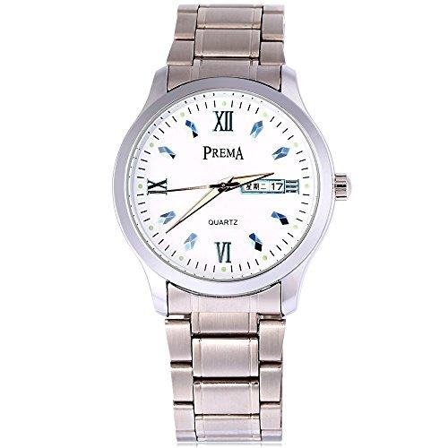 Leopard Shop Prema 6119 11 Stecker Armbanduhr Quarzuhr roemischen Ziffern Display Kalender Luminous Pointer Wasser Widerstand 3