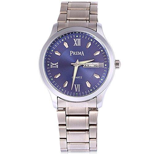 Leopard Shop Prema 6119 11 Stecker Armbanduhr Quarzuhr roemischen Ziffern Display Kalender Luminous Pointer Wasser Widerstand 4