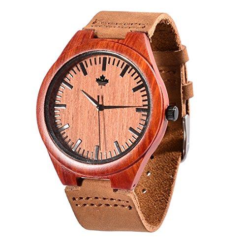 tamlee natur Holz ENOY Armbanduhr Janapese Miyota Quarz Sports Casual Handgelenk Uhren fuer Maenner
