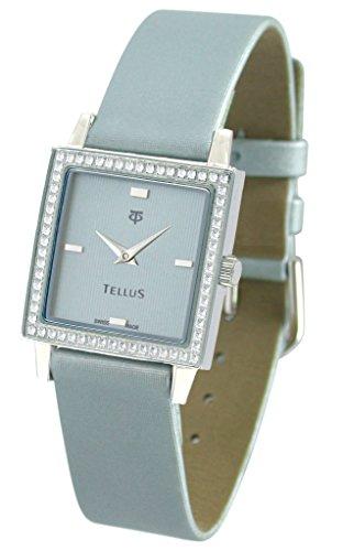 Tellus Vintage Tuerkis Ziffernblatt Armband tuerkis aus Kalbsleder in Schweiz hergestellt T5067DI 003