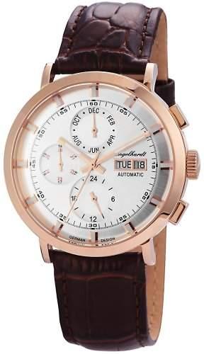 Engelhardt Herren-Armbanduhr XL Analog Automatik Leder 388232529007