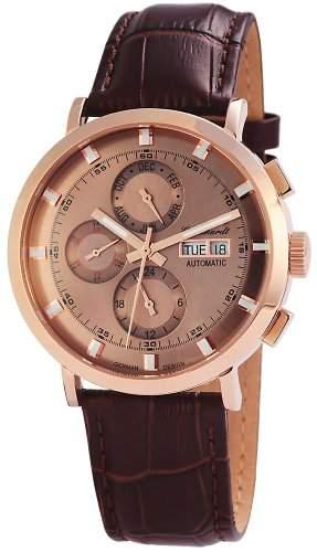 Engelhardt Herren-Armbanduhr XL Analog Automatik Leder 388231529007