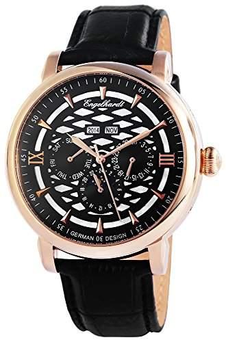 Engelhardt Herren-Armbanduhr XL Analog Automatik Leder 388531029004