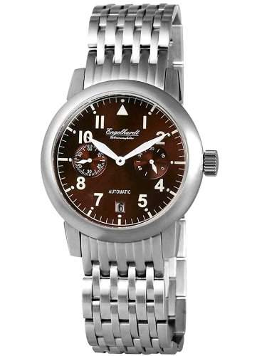 Engelhardt Herrenuhr mit Edelstahlarmband Braun Armbanduhr Uhr 388927028002