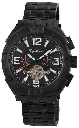 Engelhardt Herren-Armbanduhr XL Analog Automatik Edelstahl 389471528004