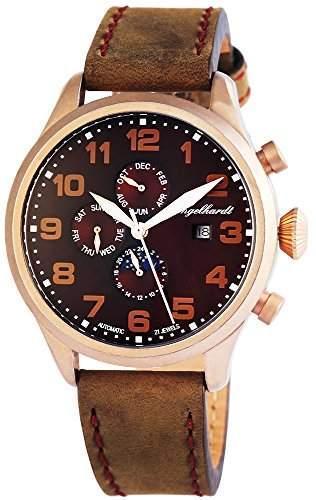 Engelhardt Herren-Armbanduhr XL Analog Automatik Leder 389537029002