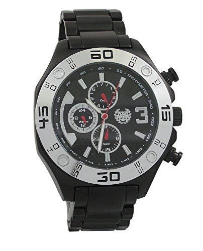 Kronwerk Herrenuhr Black Metall Armband Multifunktions Tag Datum Grosse Gesichts AQ202822G