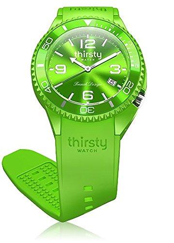 Thirsty Unisex Armbanduhr Silikon Kiwi