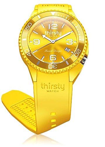 Thirsty Unisex Armbanduhr Silikon Lemon