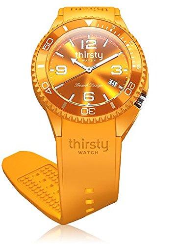 Thirsty Unisex Armbanduhr Silikon Papaya