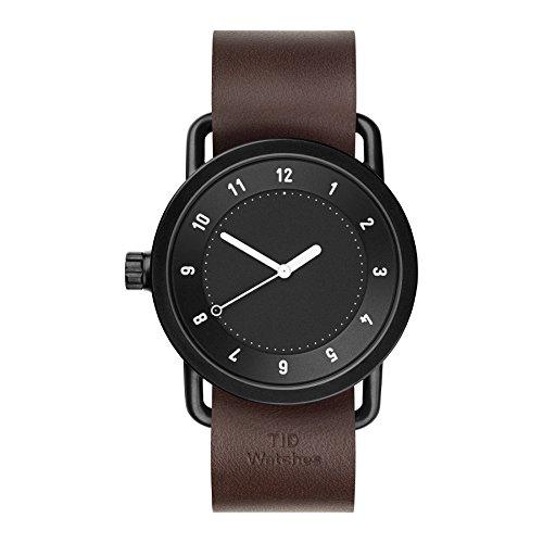 Tid Watches Analog Quartz Leder Schwarz 10210103