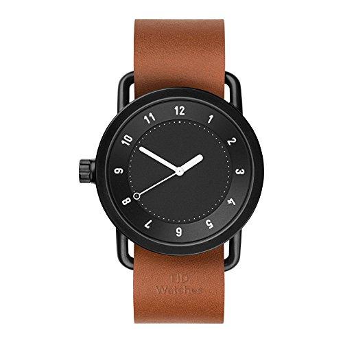 Tid Watches Analog Quartz Leder Schwarz 10210104