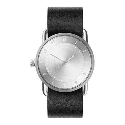 Tid Watches Analog Quartz Leder Schwarz 20220201