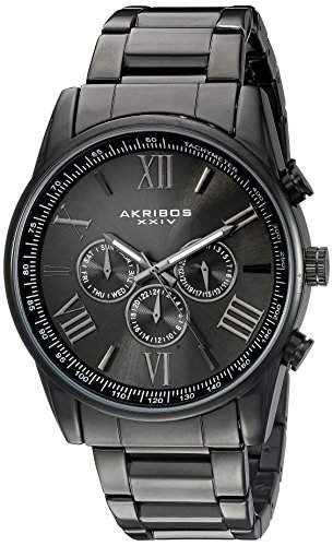 Akribos XXIV Herren-Armbanduhr AK736BK Analog Quarz
