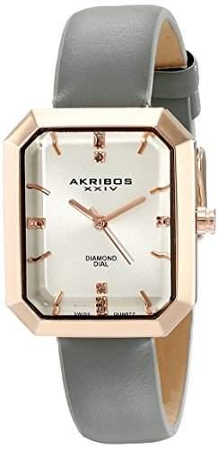 Akribos XXIV Damen-Armbanduhr Lady Diamond Analog Quarz AK749GY