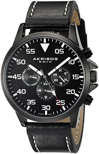 Akribos XXIV Herren-Armbanduhr Man AK773BK Analog Quarz