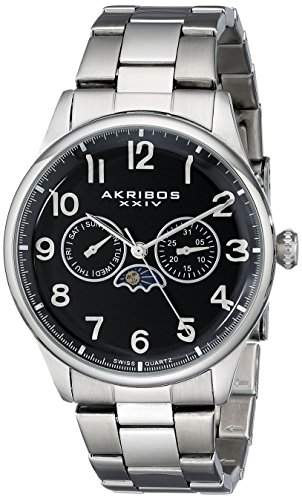 Akribos XXIV Herren Armbanduhr Chronograph MOON PHASE