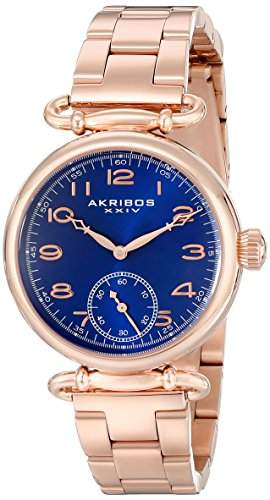 Akribos XXIV Damen-Armbanduhr Analog Display Japanisches Quarz-Rose Gold