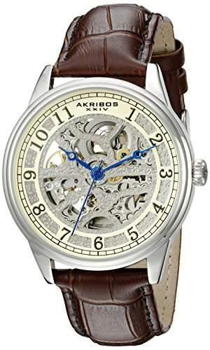 Akribos XXIV Herren Analog-Anzeige Automatische selbst wind braun Armbanduhr