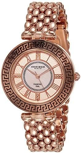Akribos XXIV Damen-Armbanduhr AK808RG Analog Quarz AK808RG