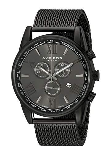 Akribos XXIV Herren-Armbanduhr Man AK813BK Analog Quarz