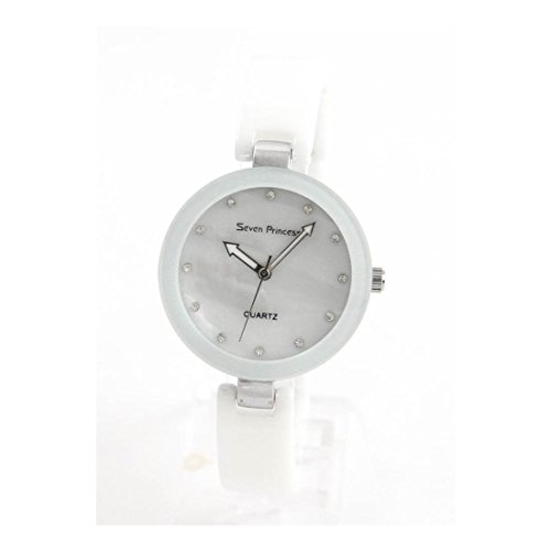 Damen Armbanduhr aus weisser Keramik 191