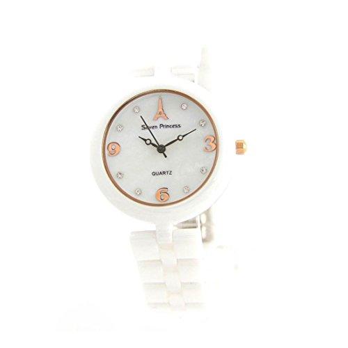 Jolie Damen Armbanduhr Weisser Keramik 2865