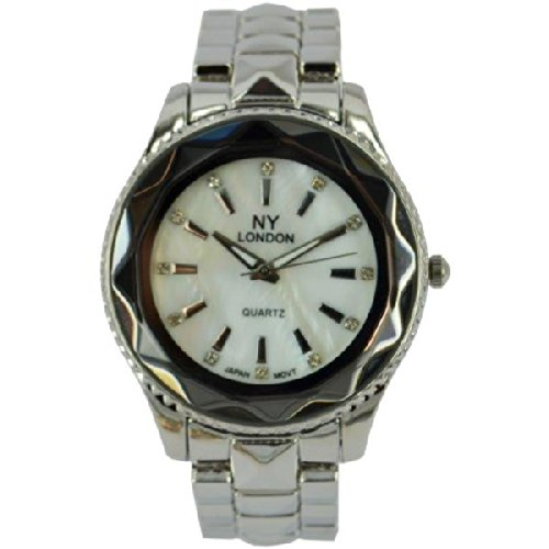 Prince London NY Damen silberfarbenen Metallrahmen Funktion Uhr mit PI 7815