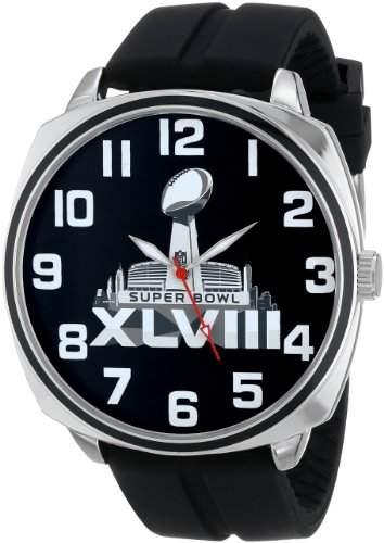 Game Time Herren NFL Super Bowl XLV111 Official ArmbanduhrBlack Armbanduhr