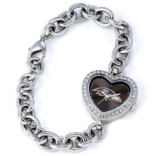 NFL Damen FH BAL Heart Collection Baltimore Ravens Uhr