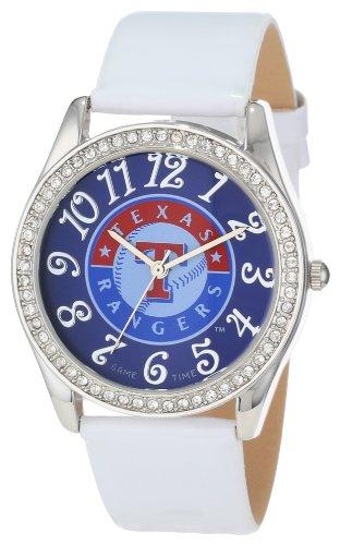 Game Time Damen MLB GLI TEX Glitz klassischen analogen Texas Rangers Uhr
