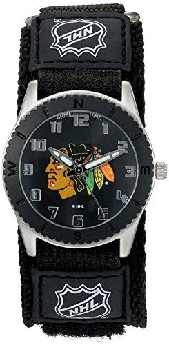 Game Time Unisex nhl rob chi Rookie Schwarz Armbanduhr Chicago Blackhawks