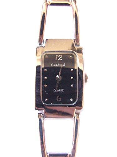 Schwarz Rechteckig Zifferblatt Silber Damen Fashion Armbanduhr