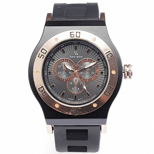 Shan Luxus Rose Gold Luenette Schwarz Fashion Casual Freizeit Sport Herren Damen Liebhaber Rubber Strap Geschenk Armbanduhr w Box