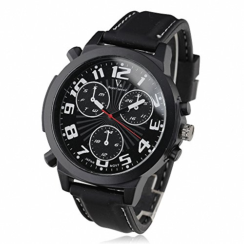 Shan meistverkauften Sport Armbanduhr Casual Outdoor Militaer Big Damen Herren Liebhaber Gummi Band Schwarz Fall w Geschenk Armbanduhr