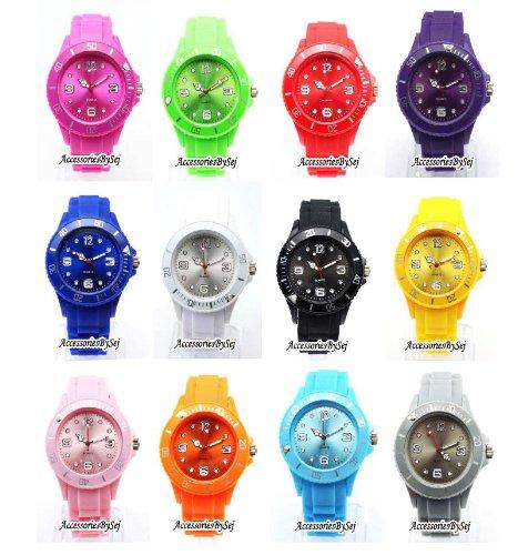 HOT Silikon Uhr Uhren L Breit 4 3 cm Weiss Trend Watch Style Sport Verfuegt ueber Luxurioese Geschenktuete von AccessoriesBySej Von AccessoriesBySej TM