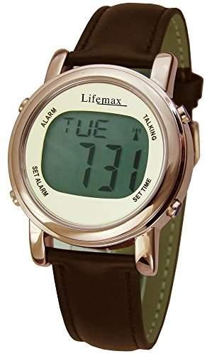 Lifemax 1415C Armbanduhr, Armband, Leder, Farbe: braun