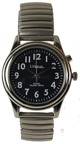 Lifemax Damen-Armbanduhr Talking Atomic Watch - Expanding Bracelet Analog edelstahl Silber 4073E