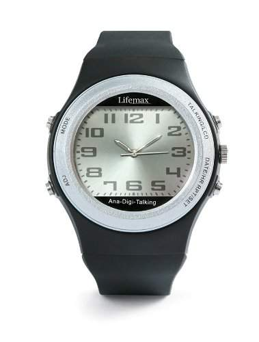 Lifemax Unisex Armbanduhr AnalogDigital Automatik Kunststoff Sprachfunktion schwarz 424