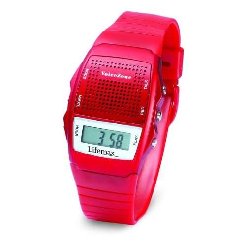 Lifemax Talking Memo Uhr Rot 428red