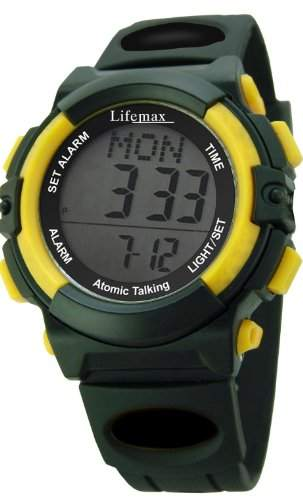 Lifemax Herren-Armbanduhr Digitaluhr mit LCD Dial Digital Display und schwarz Harz Gurt 429