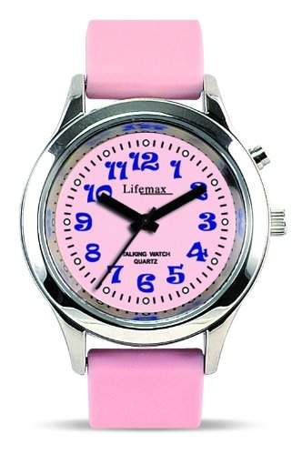Lifemax Maedchen-Armbanduhr Lifemax RNIB Childs Talking Watch Pink Analog Kunststoff pink 4311