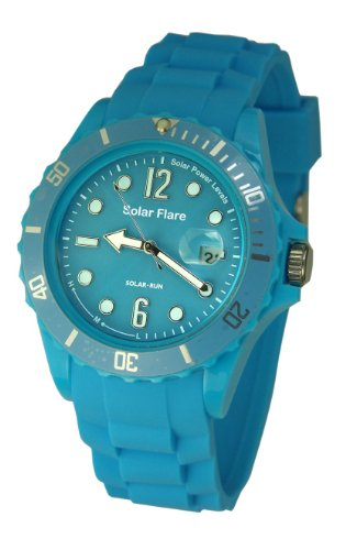 Lifemax Lifemax Solar Flare Watch Cyan 1355GC Analog Plastik Blau 1355GC