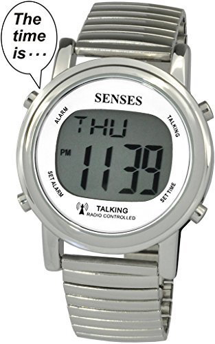 Atomic Talking Watch setzt sich Sinne Metall gut ablesbares Talking Watch srtkd1 2